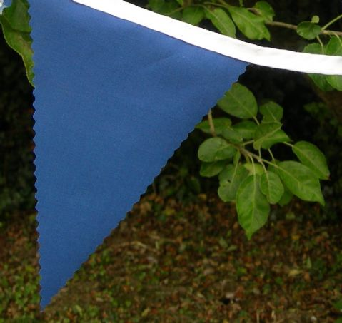 BUNTING Plain Blue - 3m/10ft or 5m/16ft